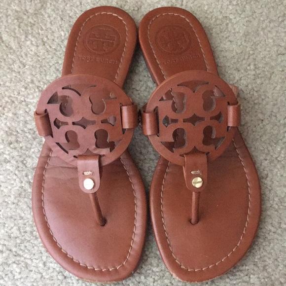 dd645f1864cc8 Tory Burch Vintage Vachetta Miller Sandals size 5.  M 5ae4af9acaab447e944bca38